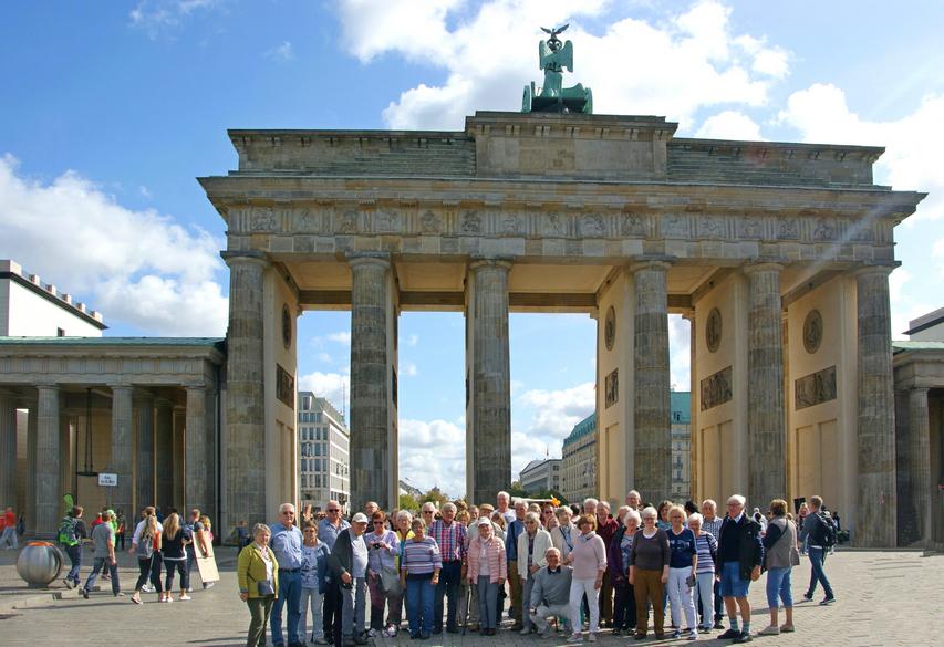 Foto am Brandenburger Tor